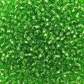 Seed Beads Round Size 11/0 28GM Silver Lined Kelly Green