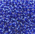 Seed Beads Round Size 11/0 28GM Silver Lined Cobalt