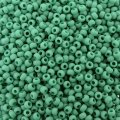 Seed Beads Round Size 11/0 28GM Matte Opaque Dark Turquoise