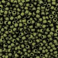 Seed Beads Round Size 11/0 28GM Metallic Matte Olive Green