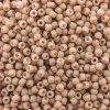 Seed Beads Round Size 11/0 28GM Opaque Pastel Frosted Shrimp