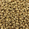 Seed Beads Round Size 11/0 28GM PermaFinish Galvanized Matte Gld