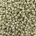 Seed Beads Round Size 11/0 28GM PermaFinish Galvanized Matte Slv