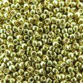 Seed Beads Round Size 11/0 28GM PermaFinish Galvanized Lemon Gld