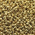 Seed Beads Round Size 11/0 28GM PermaFinish Galvanized Champagne