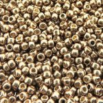 Seed Beads Round Size 11/0 28GM PermaFinish Galvanized Almond