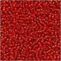Toho Round Seed Beads Size 15/0 Silver Lined Ruby 8GM