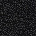 Toho Round Seed Beads Size 15/0 Opaque Frosted Jet 8GM