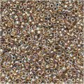 Toho Round Seed Beads Size 15/0 Gold Lined Rainbow Crystal 8GM