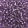 Seed Beads Round Size 8/0 28GM Silver Lined Light Grape 8-2219