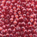 Seed Beads Round Size 8/0 28GM Silver Lined Ruby Red