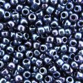 Seed Beads Round Size 8/0 Metallic Nebula Dark Blue 28GM 8-82