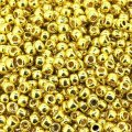 Seed Beads Round Size 8/0 PermaFinish Galvanized Lemon Gold 28GM