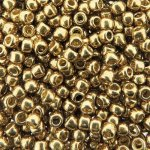 Seed Beads Round Size 8/0 28GM PermaFinish Galvanized Champagne