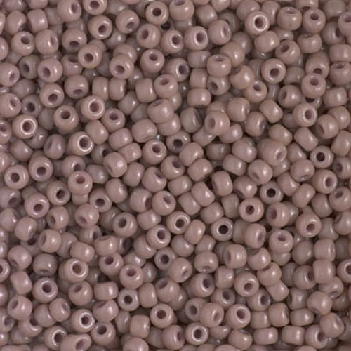 Miyuki Round Seed Beads Size 8/0 DURACOAT Opaque Beige 24GM - Click Image to Close