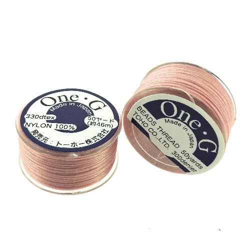 One-G Beading Thread 50YD Spool Pink - Click Image to Close