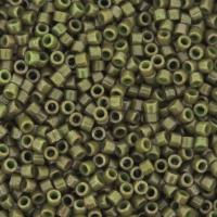 DB657 Miyuki Delica Seed Beads 11/0 Dyed Opaque Olive 7.2G