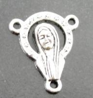 Pewter Connecter Rosary 18x15mm 20pcs Antique Silver