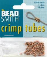 BeadSmith Crimp Tubes Copper Plated 2x2mm 100pcs