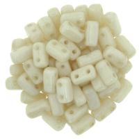 Brick Beads 2-Hole 3 x 6mm 50pcs - Opaque Luster Champagne