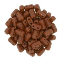 Brick Beads 2-Hole 3 x 6mm 50pcs - Umber