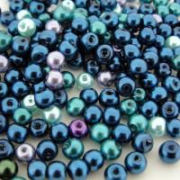 Mixed Luster Glass Pearls Round 4mm - Ocean Mix (800 pcs)