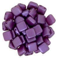 Tile Beads 6mm Square 2-Hole - Pearl Coat Purple (25)