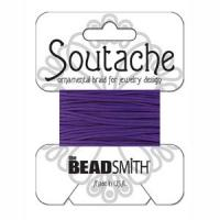 Beadsmith Soutache Braided Cord / Trim 3mm Pansy 3 Yds