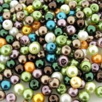 Mixed Luster Glass Pearls Round 6mm - Forest Mix (200 pcs)