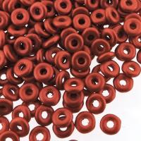 Czech O-Beads 3.8 mm x 1 mm Lava Red 8.1g