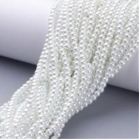 Glass Pearls Round 4mm - White approx 195pcs/str