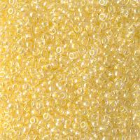 Miyuki Round Seed Beads Size 11/0 Crystal Lined Lt Yellow AB