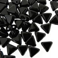 Kheops Puca Beads 2-hole 6mm 9GM - Jet Black