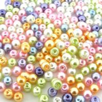 Mixed Luster Glass Pearls Round 4mm -  Pastel Mix (800 pcs)