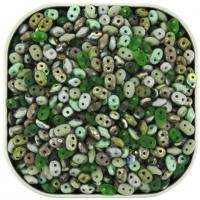 "Czech SuperDuo Two-hole Beads 5.5x2.5mm ""Stone Henge"" Mix 24g"