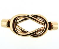 Kumihimo End Cap/ Magnetic Clasp Celtic Knot Twist - Rose Gold