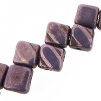 Czech Glass 2-hole Silky Beads 6mm (40) Vega On Chalk