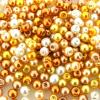 Mixed Luster Glass Pearls Round 4mm - Caribbean Sea  (800 pcs)