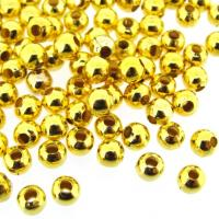 Spacer Beads Smooth Round 4mm Gold Plated. Pack of 300