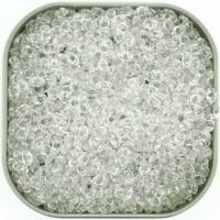 Czech MiniDuo Two-hole Beads 4x2mm Crystal 8g