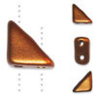 Czech Tango 2-hole Beads 6mm Triangle Matte Copper 9g