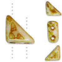 Czech Tango 2-hole Beads 6mm Triangle Butter Pecan 9g