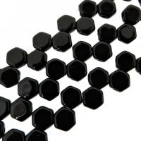 Czech Glass Honeycomb Beads 2-Hole 6mm 30 Pcs Jet Black
