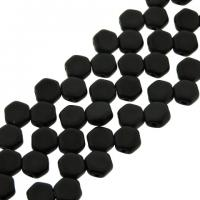 Czech Glass Honeycomb Beads 2-Hole 6mm 30 Pcs Jet Matte