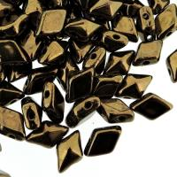 Czech DiamonDuo 2-Hole 8x5mm 10g - Dark Bronze