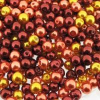 Mixed Luster Glass Pearls Round 6mm - Fire Mix (300 pcs)