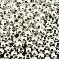 Spacer Beads Smooth Round 4mm Silver Plated. Pack of 300