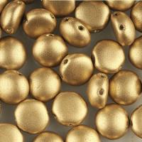 Candy Beads 2-Hole Cabochon 8mm 20pcs - Matte Gold