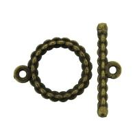 Toggle Clasp Round 15x18mm 20 Sets Antique Bronze