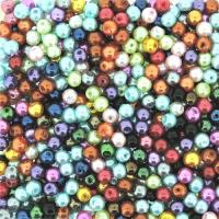 Mixed Luster Glass Pearls Round 4mm -  Assortment (800 pcs)